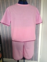 Pink gingham PJs