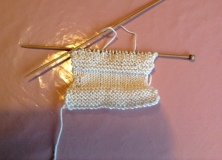 First knitting