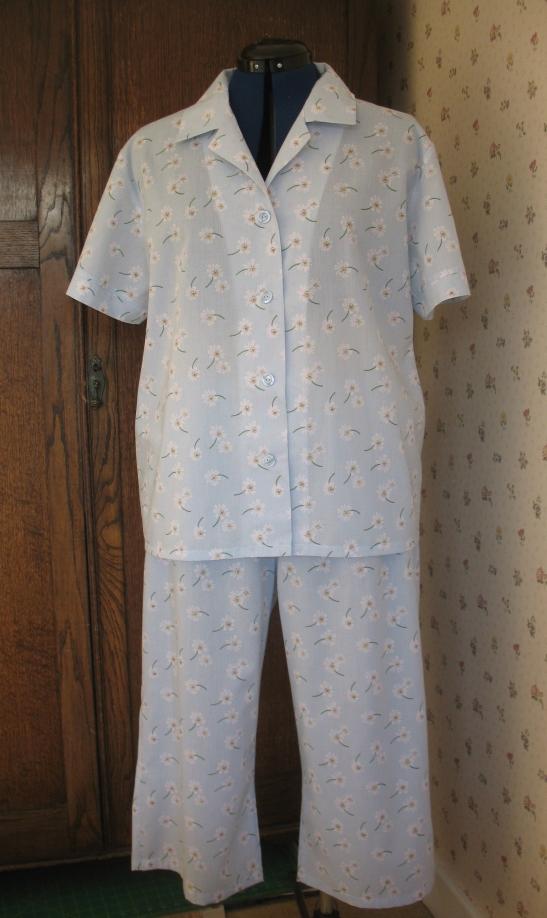K2811 cropped pyjamas